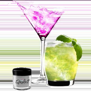Poudres brillantes comestibles pour boissons